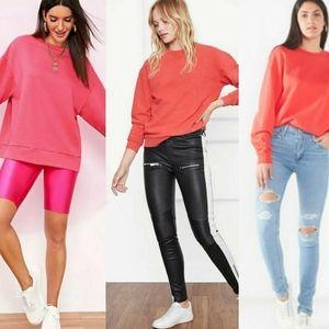 Uniqlo cotton tangerine crew neck sweater …